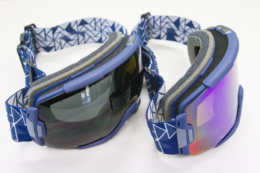 VICEの通常球面レンズとSQUADの平面レンズ
