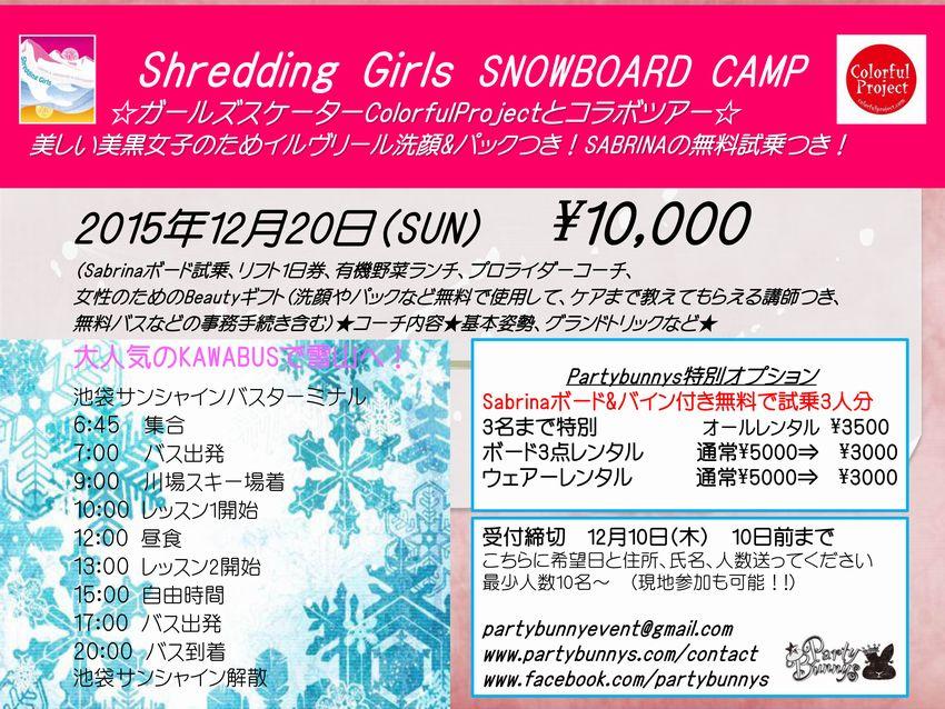 small2015年12月20日(月)Shredding girls女性ー
