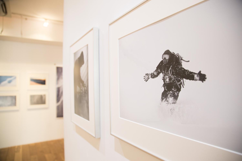 話しの中にでてきたルーカス・デバリの写真。この作品のタイトルは「SNOWMAN」と名付けられた
