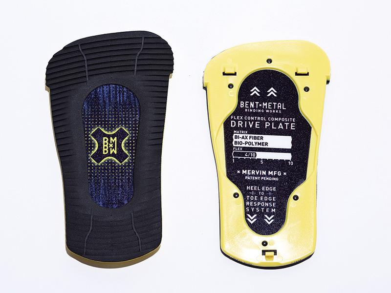 LOGICに標準装備されるのはCALCIUMBI-AXとネーミングされたFLEX 4のミディアムフレックスのドライブプレート