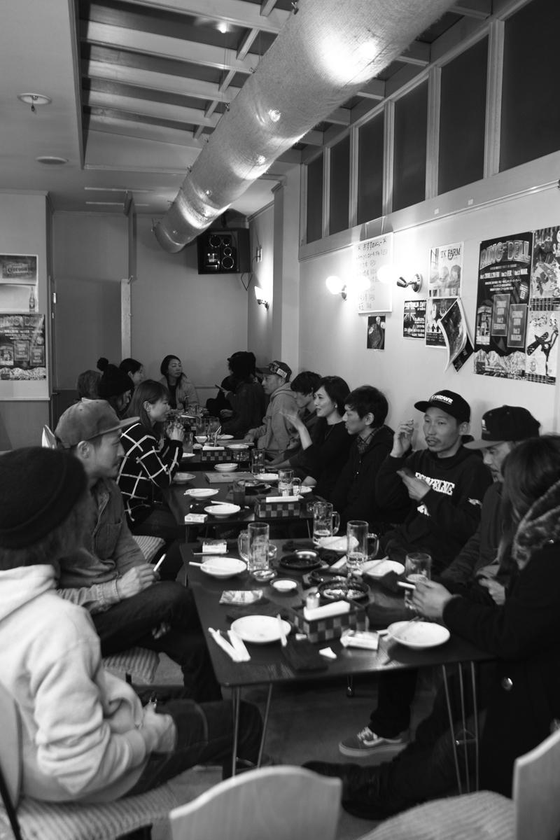 アフターパーティーは栂池の鉄板焼き喜楽にて参加者と夕食