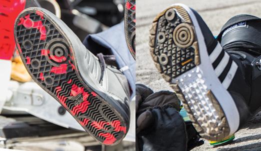ソールにある大きい丸と小さい3つの丸。実はこれは adidas Skateboardingのソールと同じ配置になっている。こういった細かい部分にもadidasらしいこだわりが詰め込まれている