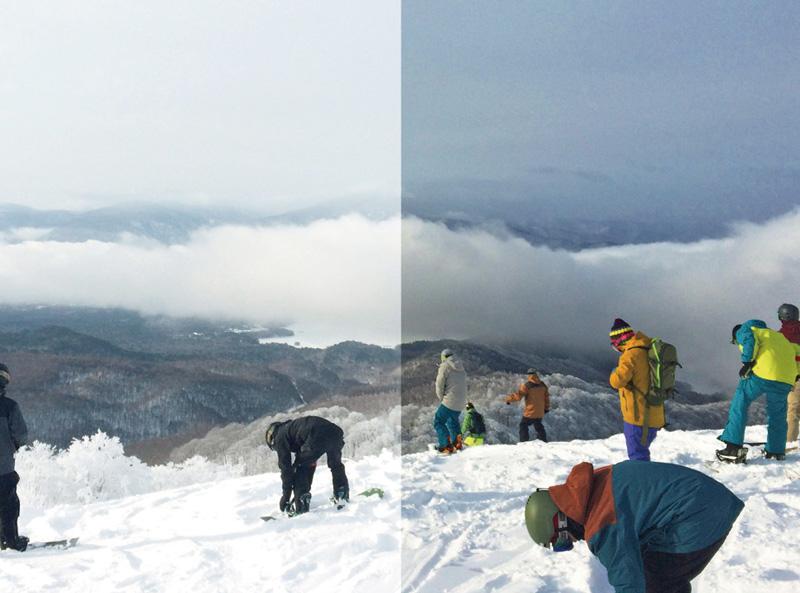 左(裸眼)の画像に比べ、右(クロマポップ)を通した画像は陰影や色をしっかりと再現しながら自然な視界を損なわない