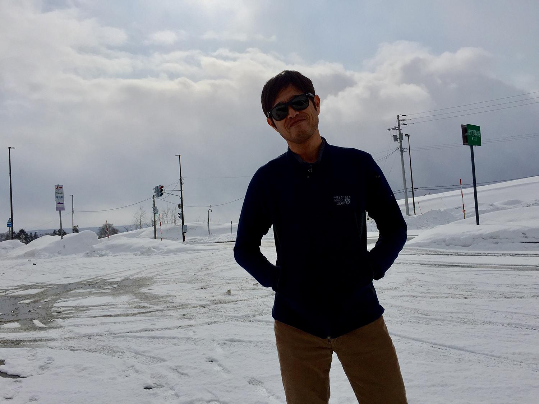 雪上カメラマン中西。長身に小顔に優しい目。黙っていればモテる…笑