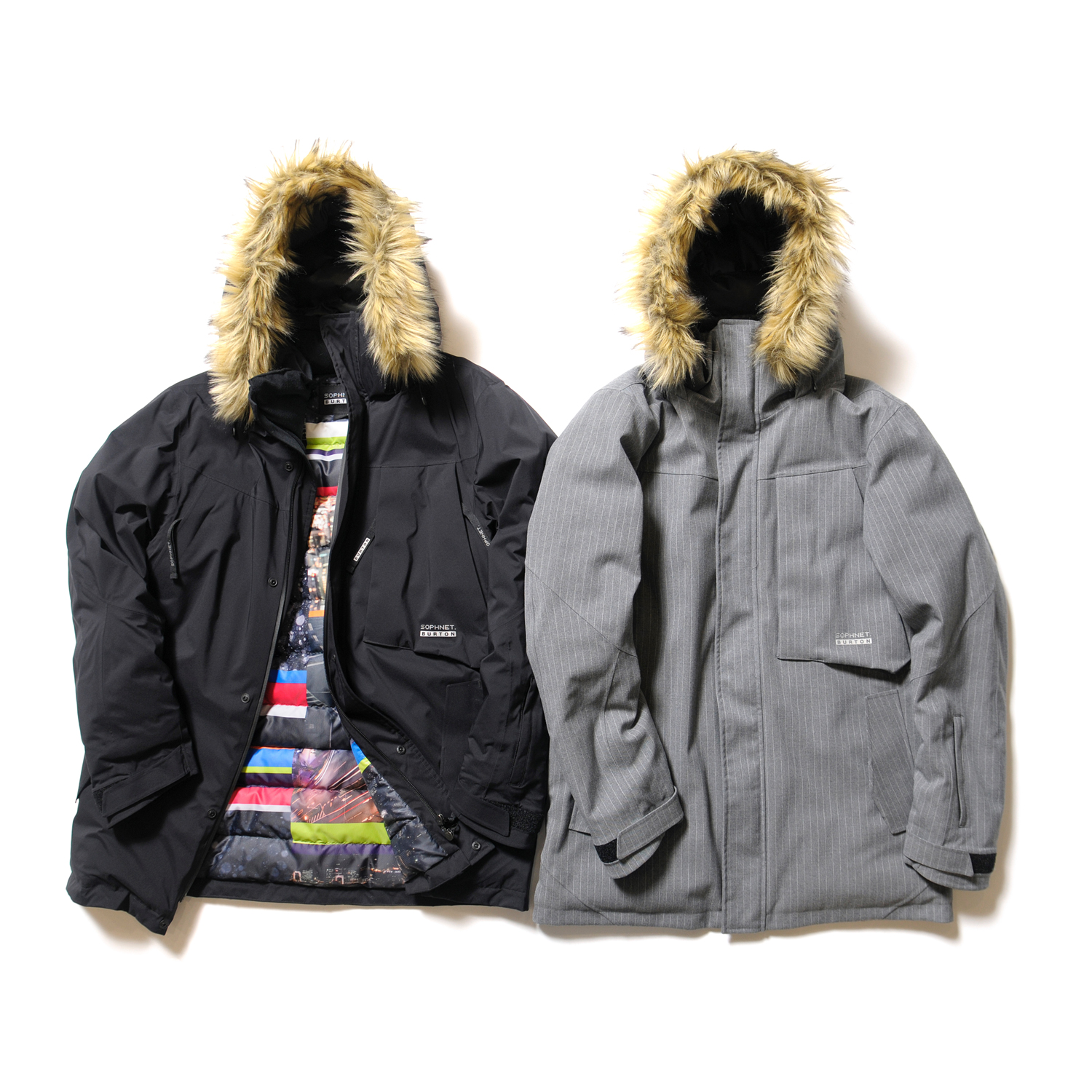 <2.5 LAYER FUR DOWN PARKA> color : BLACK , GRAY / size : S , M , L , XL price : 95,000 + TAX (BLACK) ,105,000 + TAX (GRAY)