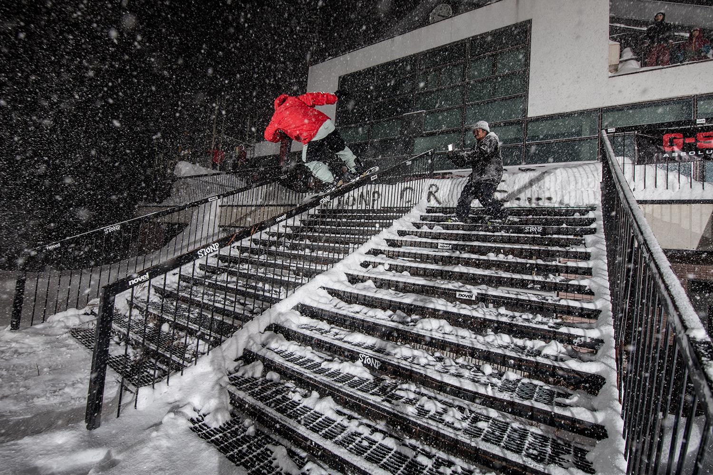 どんなに雪が降ろうとも高橋龍正の滑りにブレはない