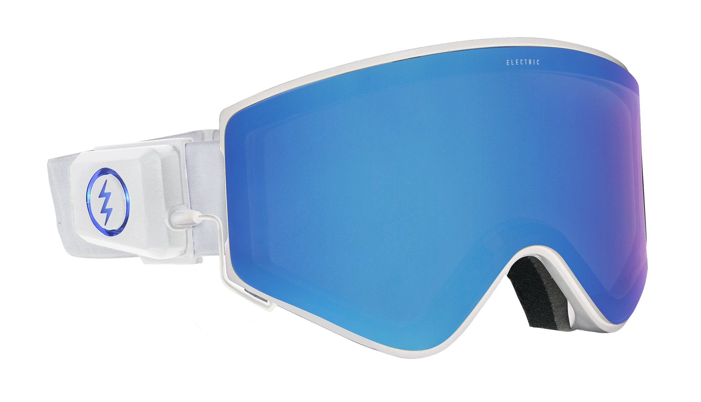 ELECTRON Frame Color: MATTE WHITE Lens Color: BLUE CHROME Price: ¥35,000