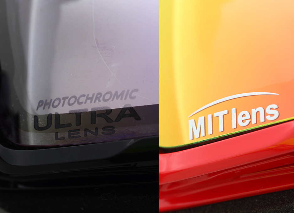 天候に合わせて自動的にレンズ色が変化する「ULTRA調光レンズ」や、剥がれないミラーコーティングの「MIT偏光レンズ」など、DICEが絶対的自信を持つ最高のレンズテクノロジーは今季も健在