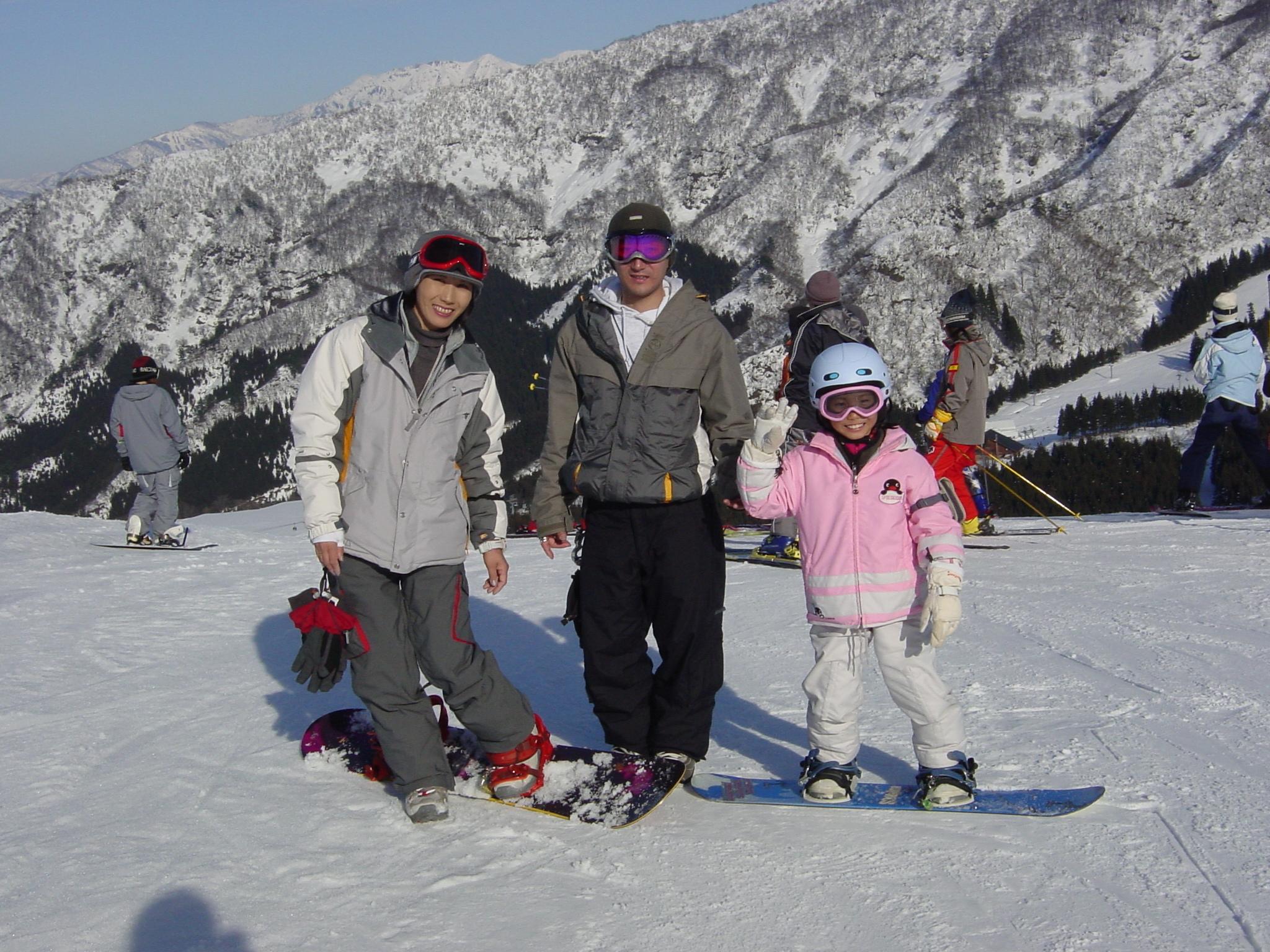 小学2年の冬、家族で雪山スノーボードデビュー(舞子リゾート)