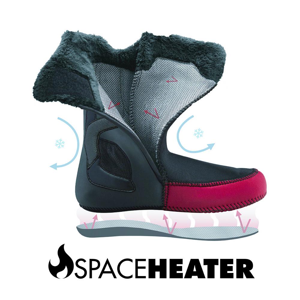 快適性と保温性にフォーカスしたインチューション®スペースヒーター™ライナー。熱反射するヒートブランケットパネルがブーツ内の熱を閉じ込める。専用ヒーターでも体温でも熱成形可能で、パーフェクトなライナーに仕上がった