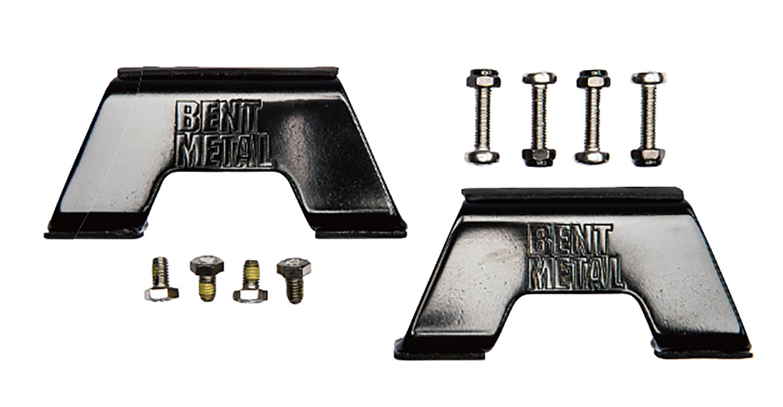 """マービン社のバインディングブランド""""BENT METAL""""がつくる独自のトラックシステムが正確なコントロール性能をサポートする(¥6,000)"""